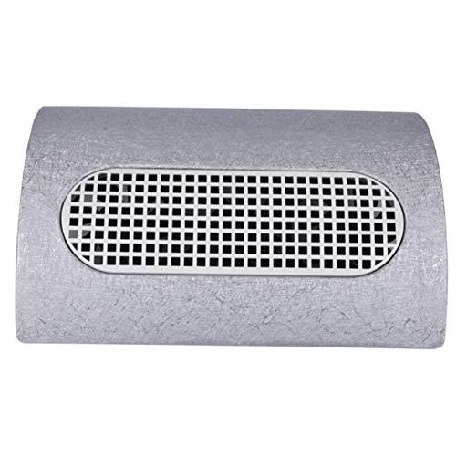 Aspirateur Manucure Outil réglable de poussière de vitesse de salon de clou 3 oreiller de main d'aspirateur de bureau de fan de double usage avec le sac à poussière 110v / 220v,Silver