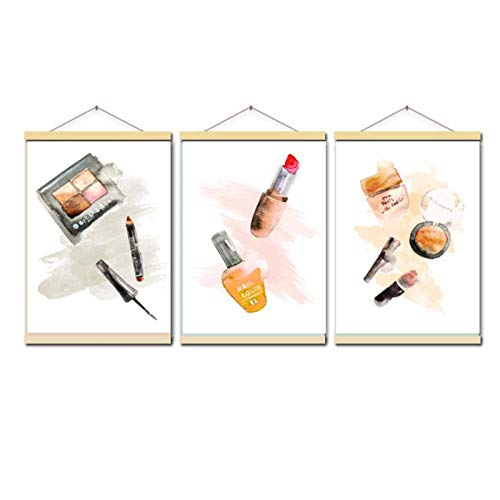 Dlfalg Parijs Merk Make-up Lipstick Parfum Nordic Posters en Prints Muurschildering Canvas Schilderij Decor Foto's voor Woonkamer- 40 * 60Cm*3 Niet ingelijst