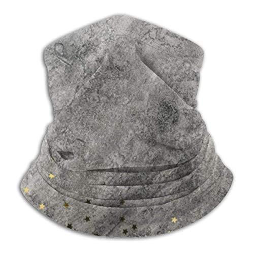 Ewtretr Star Spangles Verstreuter grauer Hintergrund Winter Fleece Neck Gamasche Neck Warmer Gesichtsmaske Outdoor