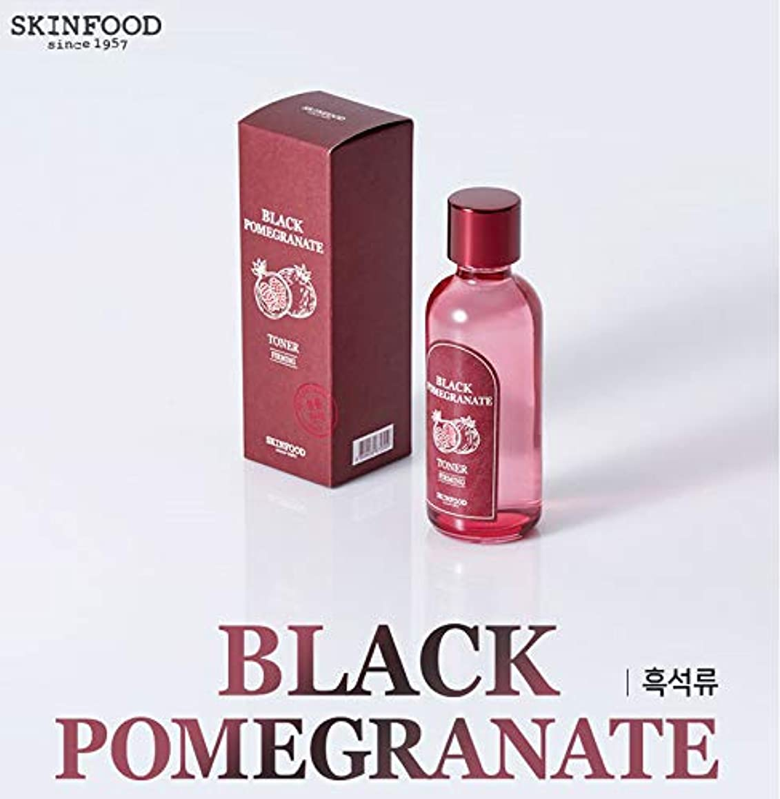 出口スムーズにちょっと待って[スキンフード] SKINFOOD [黒ザクロ ベースライン] (Black Pomegranate Skin care) (No.01 Black Pomegranate Toner(180ml)) [並行輸入品]