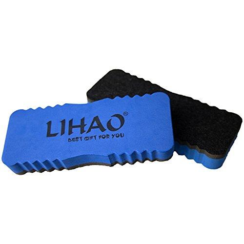LIHAO - 2 x Brosse d'effaçage Magnétique pour Tableau Blanc Nettoyage