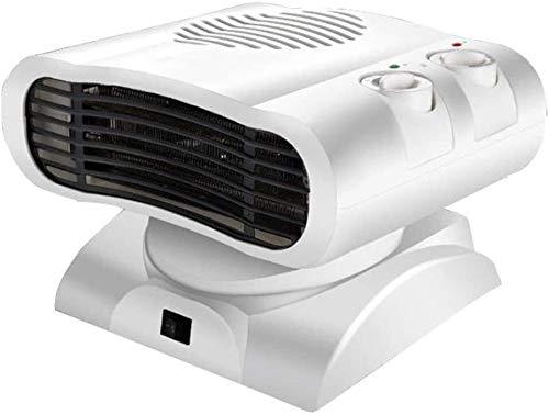 Dr.Sprayer Calentador eléctrico Calefacción y refrigeración Aire Acondicionado más Peque?o Mini Calefactor Hogar Ba?o Calentador Giratorio Especial Doble Ventilador de calefacción