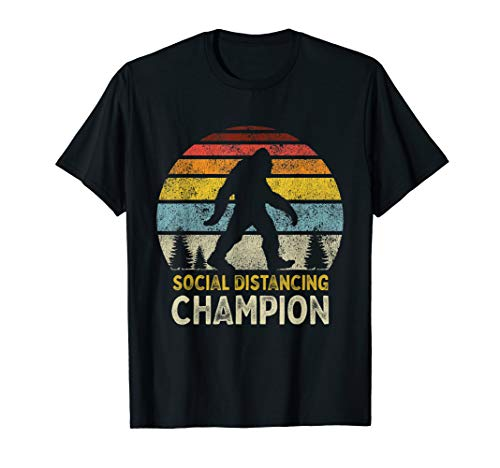 Social Distancing Champion Antisozialer Introvertierter T-Shirt