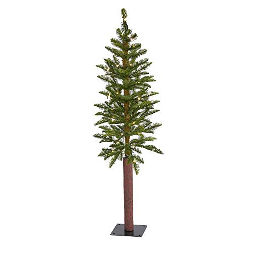 4ft. Alaskan Alpine Artificial Christmas Tree with 50 Clear Microdot (Multifunction) LED Lights and 56 Bendable Branches