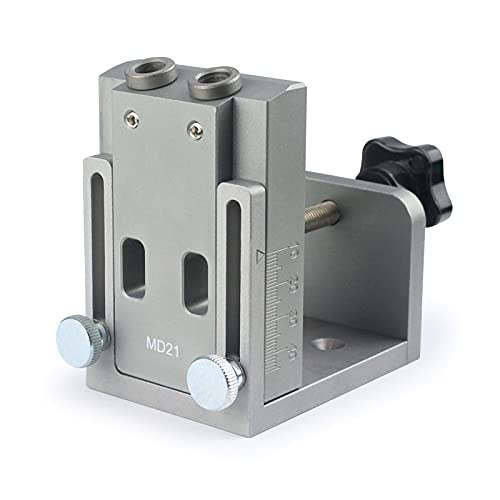 Accesorios de herramientas Localizador de plantillo de orificio de bolsillo con bit de taladro de paso 9 mm destornillador para carpintero Herramientas de hardware de carpintería ( Color : Silver )