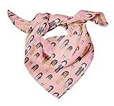Bimba Rosado De las mujeres Figura humana Pañuelo de seda pura estampado para pañuelos de cabeza de ...