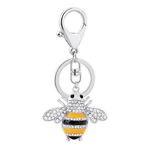 AC1 Creative Ltle Bee Car KeyChain - Llavero para mujer, diseño con texto en inglés 'Happy World Bee Day'