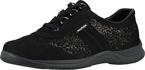 Mephisto Womens Liria Lace-Up Shoes, Black/Black Bucksoft/Check, Size 6.5
