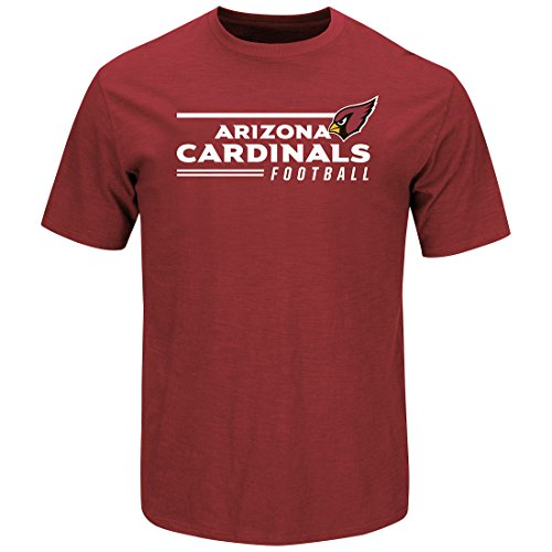 Majestic Athletic Arizona Cardinals Line of Scrimmage Rot T-Shirt, Herren, Rot, Small