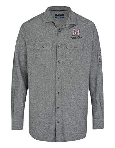 Bexleys man by Adler Mode Fischgrat-Hemd mit Zwei Brusttaschen, Regular FIT Schwarz 39/40