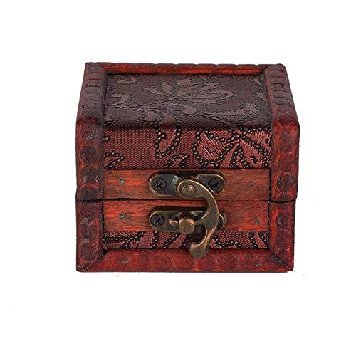 Cofre del tesoro de joyería Caja de almacenamiento de joyería Mini para Grfriend & Mother para collar Pendientes(Grass Flower)