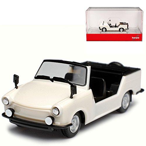 Herpa Trabant 601 Kübel Kübelwagen Perl Weiss Cabrio offen H0 1/87 Modell Auto mit individiuellem Wunschkennzeichen