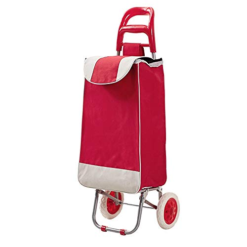 G.F. GF Carrello a Mano, Carrello Portatile con Borsa Oxford può Essere utilizzato Come Cestino della Spesa, Rosso Trolley Domestica (Color : Red)
