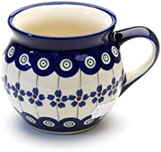 Bunzlauer Keramik Kugelbecher 0,42L mit seperater Saftpresse Dekor 42
