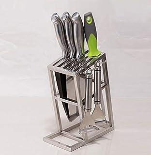 NG Équipement Quotidien Accessoires de Cuisine Porte-Couteau Porte-Couteau de Cuisine en Acier Inoxydable Bloc Anti-moisis...