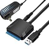 Uuger sata usb 変換ケーブル 3.5/2.5インチ SSD HDD SATA USB変換アダプター SATA3 USB3.0 変換ケーブル 電源アダプター付 Windows10/Mac OS 高速伝送 最大6TB UASP対応