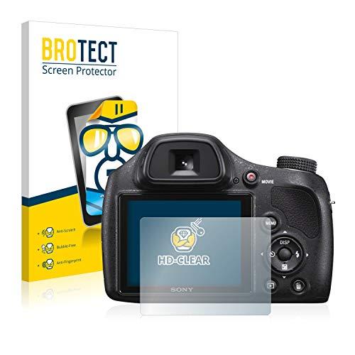 BROTECT Protector Pantalla Compatible con Sony Cyber-Shot DSC-H400 Protector Transparente (2 Unidades) Anti-Huellas