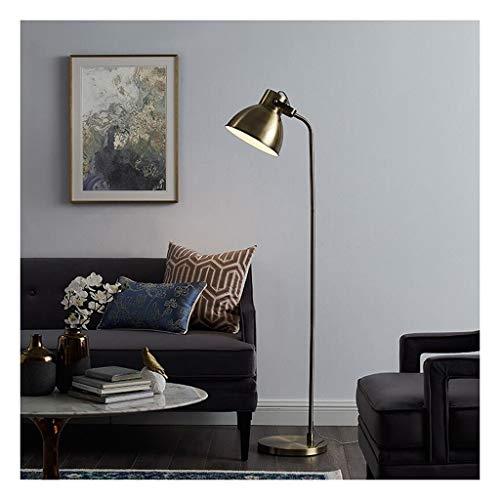 Staande lamp brons staande lamp LED woonkamer study leeslamp slaapkamer bank creatieve Amerikaanse eenvoudige moderne LED voetschakelaar LED