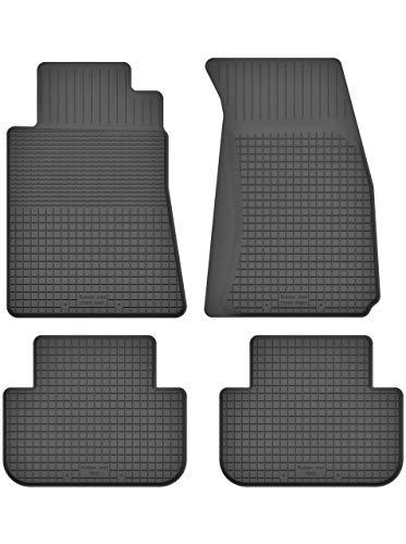 KO-RUBBERMAT Gummimatten Fußmatten 1.5 cm Rand geeignet zur Mercedes A-KL. W168 (1997-2004) ideal angepasst 4 -Teile EIN Set