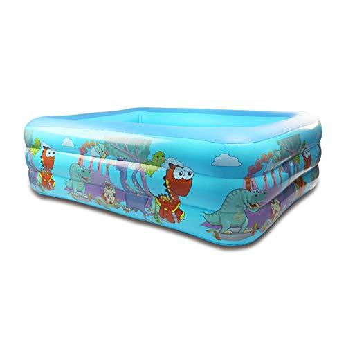 LIDEBLUE Piscina inflable, dinosaurio de dibujos animados piscina de natación sobre el juego de agua fiesta niños océano bola pozo para niños juguete de piscina de verano