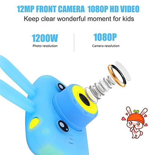 Diswoe Kinder Kamera, Digitale Kamera für Kinder HD 1080p Kinderkamera 1200 Megapixel Kids Camera mit 2,0 Zoll Farbdisplay, Wiederaufladbar Actionkameras Camcorder Spielzeug Kamera für Kinder (Blau)