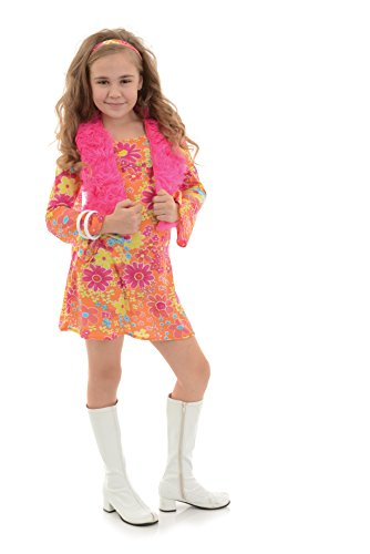 Girl's 60's Groovy Costume for Dress Up and Halloween - Flower Power