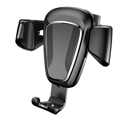 Happy Shop Car Cradle Car Phone Holder Car Air Outlet Snap-Type Gravity Navigation Support Frame for All Kinds of Smart Phones Anti-Shake (Color : Black)