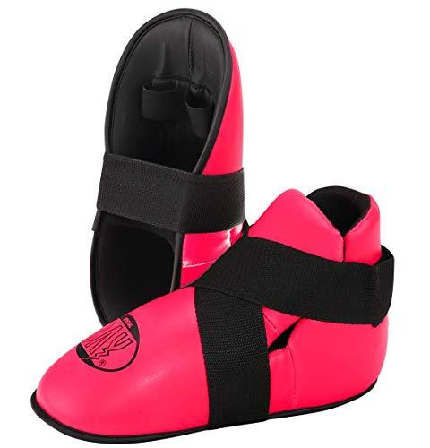Bay SUPERKICK Fußschutz pink rosa Fußschützer Kickboxen Kick-Boxen Safety (S)