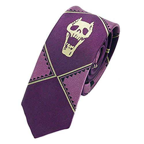 OfficialOtaku Kira Yoshikage Cosplay Slim Tie - Purple