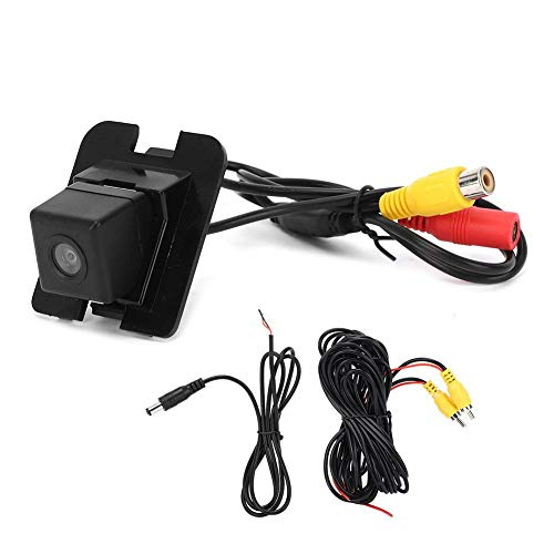 KIMISS 170 ° Cámara de Marcha atrás, Kit de Monitor de Respaldo de Coche ABS para Benz Clase S W204
