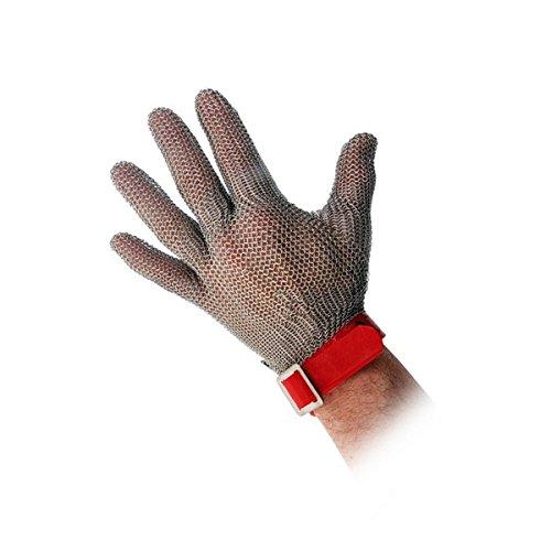 LOUIS TELLIER - Gant en Cotte de Maille Rouge - Taille M - Ambidextre - Qualité Supérieure - Marque Française