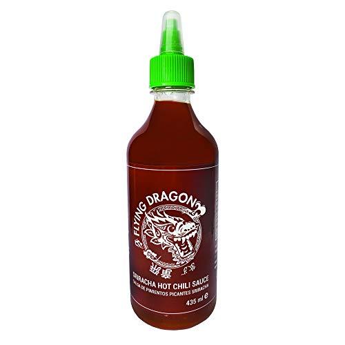 Salsa Flying Dragon - Salsa Sriracha con Chile Picante -Hot Chilli Sauce - Pack 435 ml