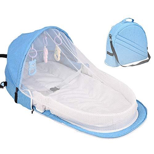 ベビーベッド 折りたたみベッド ベッドインベッド 揺りかご おみむつ換え 蚊帳付き コンパクト 持ち運び便利 出産お祝い 新生児用寝具
