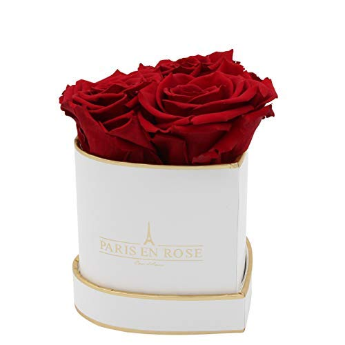 PARIS EN ROSE Herz Rosenbox
