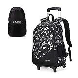 Kostenlose Regenhülle Trolley Bag Schulrucksack Kindergepäck Schulranzen Kinder Rucksack Schultaschen Rollen Junge Kinder Sport Tasche Schule Teenager 32 * 19 * 47cm 2 Rollen