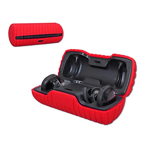 ZALUJMUS Compatible for Bose SoundSport Free Charging Case Silicone Case (Red)