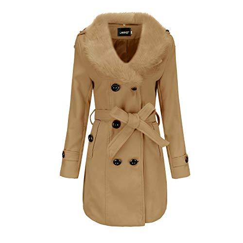 x8jdieu3 Abrigo Superior Abrigo Cortavientos Mujer Longitud Media Ropa De Invierno Para Mujer Abrigo De Lana De Doble Cara Mujer