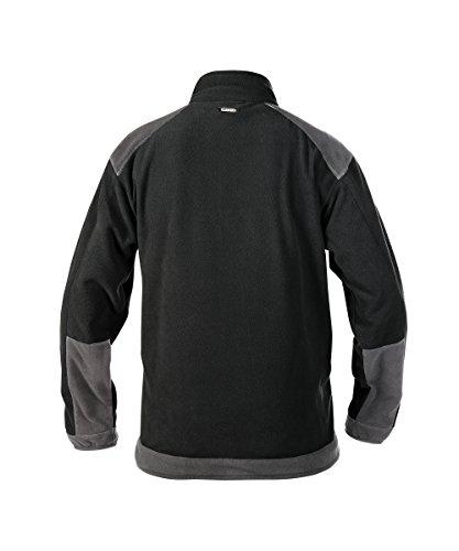 FLEECEJACKE KAZAN PES16 (260 gr) GRAU/SCHWARZ L