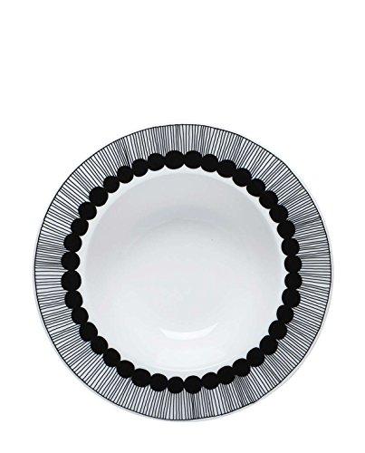 Marimekko - Oiva/Siirtolapuutarha - Suppenteller - Tiefer Teller - Weiß/Schwarz - Ø20cm