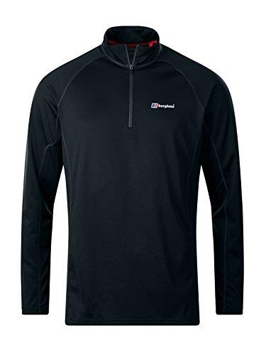 berghaus Herren Langarm-t-Shirt Technique 2.0, Black/Black, M, 422161BP6