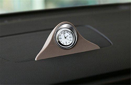 GFYWZ Orologi al Quarzo Auto, per Tutte Le Auto Veicolo Camion Cruscotto Ad Alta Precisione Orologio,Beige+Nonoctilucent