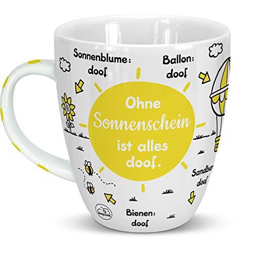 Sheepworld 46509 Sonnenschein ist Alles doof, Sonne, Porzellan, 45 cl, Gelb, Geschenk Freundschaft Tasse