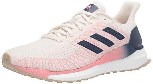 adidas Women's Solar Boost 19 Running Shoe, Chalk White/Indigo/Glory Pink, 7 M US