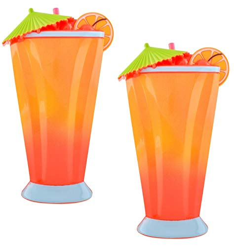 O2COOL Carribean Cocktail Boca Clips, 2 Clips