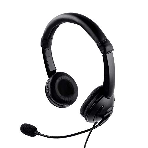 USB Headset, PC Kopfhörer mit Mikrofon Rauschunterdrückung und Audiosteuerung, Chat Office Gaming Headset Inline Steuerkopfhörer mit Mikrofon für Xbox One PC Laptop Tablet Mac Smartphone