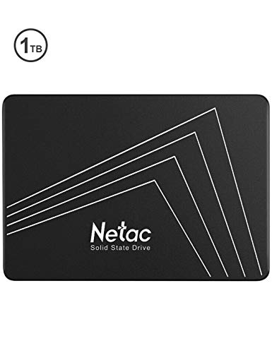 Netac 1TB SSD, 3D NAND Flash Internal Solid State Drive 2.5 Inch SATAIII 6Gb/s, up to 530MB/s with SLC Cache for Notebook, tablet, Desktop, PC