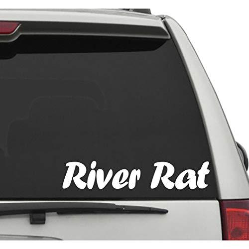 Seek Racing River Rat Vehicle Decal CAR Truck Window Bumper Sticker Lake Life River Water Ocean