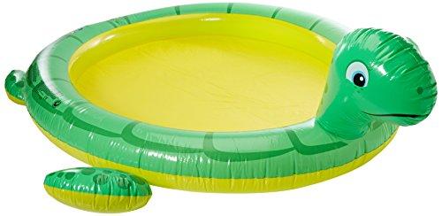 Blueborn Kids Pool Turtle Spray - Piscina per Bambini con Spruzzi, Tubo d´irrigazione