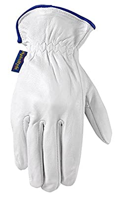 Wells Lamont Men's Classic All Purpose HydraHyde Grain Goatskin Leather Glove with Palm Patch