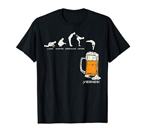 Hombre Los Dias De La Semana Y Cerveza Humor Beer Beverage Regalo Camiseta